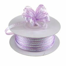"3mm 1/8"" Organza Pull bow ribbon Lavender iridescent 50 yd"