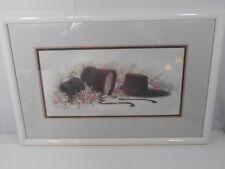 VTG Linda Bennett Amish Print Hand Signed Numbered 522/1000 Framed Wall Decor