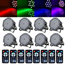 8PCS 36 LED RGB Stage Lighting PAR Light +8 Remote DMX512 Party Disco DJ Lights