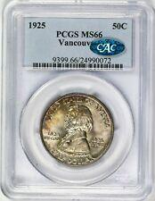 1925 Vancouver Half Dollar 50c PCGS CAC MS66