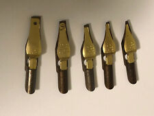 Lot 5 New Speedball Calligraphy Nibs Left-Handed Lc-0, Lc-1, Lc-2, Lc-3, Lc-4 [a