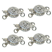 5Pcs 2 Strand Box Clasps for Jewelry Making Bracelet End Clasps Pinch Clasps