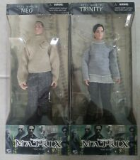New Matrix Movie Real World Trinity & Neo 12 In Figures #28034 2000 N2 Toys! a70