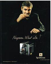 Publicité Advertising 2006 Le Café Nespresso avec George Clooney
