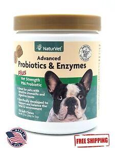 NaturVet Advanced Probiotics Enzymes Plus 120 Chews FREE SHIPPING