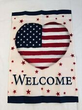 "LSU Wincraft Welcome Heart Patriotic Garden Flag 12."" x 18"""