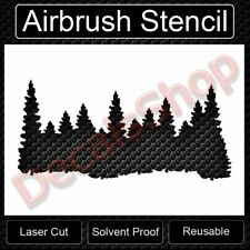 Forest Line Pine Trees Smokey Mountains Reusable Airbrush Stencil Template11x8.5