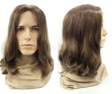 Mens Lightest Brown #12 Long Hair Wig Hippie Grunge Jesus Synthetic Costume 14""