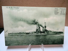 1910 Military Battleship Postcard USS Florida