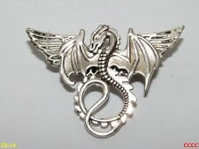 steampunk badge brooch pin wings silver dragon game of thrones harry potter