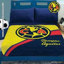 America Club Soccer Fleece Futbol Blanket Comforter Twin Full 1Pc Boy Gift Logo