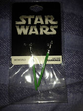 Star wars green lightsaber hook style earrings