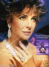 Publicité advertising 1988 Parfum Elizabeth Taylor's Passion
