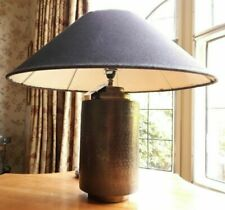 "Timothy Oulton Charcoal Coolie"" Lampshades Pair  75x25cm (Base not included)"