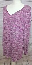 New NEW DIRECTION WEEKEND Sweater Tunic Style Long Sleeve Pullover Lilac Size 1X