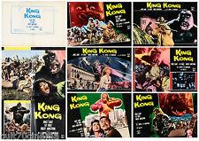 KING KONG SET FOTOBUSTE 6+1 PZ RKO DELTA BRUCE CABOT FAY WRAY ITALIAN LOBBY CARD
