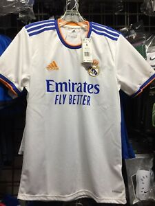 Adidas Real Madrid Home 21-22 soccer jersey White Blue Orange Size S Men Only