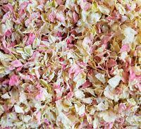 Bulk Biodegradable Confetti Pink & Cream Real Petal Delphiniums Wedding Confetti
