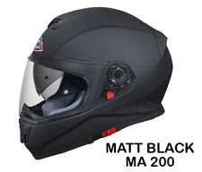 SMK Helmets - Twister - Unicolor Matt Black - Full Face Dual Visor Bike Helmet L