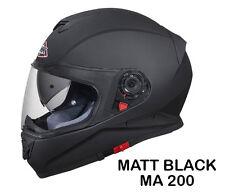 SMK Helmets - Twister - Unicolor Matt Black - Full Face Dual Visor Bike Helmet L