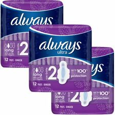 Always Ultra Long Serviettes Hygiéniques Tampons Taille 2 Womens Super Absorbant