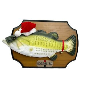 Big Mouth Billy Bass Singing Animated Fish Christmas Edition Vintage 1999 WORKS!