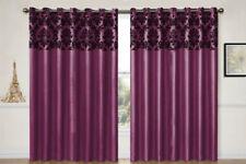 Rideaux et cantonnières violets sans marque en polyester pour la maison