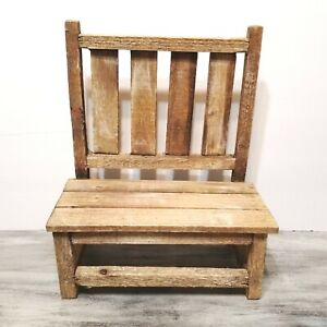 Weathered Wood Farmhouse Planter Riser Plant Stand Chair Bench Hobby Lobby Decor