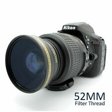 52MM HD Wide Angle Lens w/ Macro for Nikon 50mm f/1.8D & 35mm f/1.8G DX Lenses