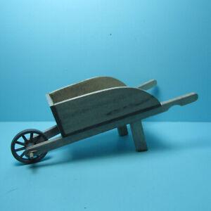 Dollhouse Miniature Wood Garden Wheelbarrow G0730