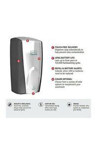 RUBBERMAID TECH CONCEPTS AUTOMATIC HAND SOAP/FOAM FG750411 Black Chrome