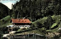 Oberaudorf am Inn Oberbayern Color AK 1966 Partie am Café Pension Dörfl Weiher