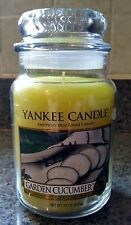 Yankee Candle Garden Cucumber 22 oz Yellow Discontinued Rare Retired item