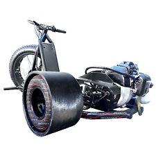 FAST 49cc 25mph Black ScooterX Drifting Big 3 Wheel Gas Powered Mini Drift Trike