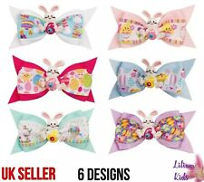 Easter Bunny Hair Clips - Cartoon Ribbon With Rabbit Hair Bows/Clips/Grips - 3""