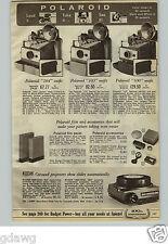 1965 PAPER AD Camera Polaroid Kodak Carousel Projector Keystone Super 8 Argus