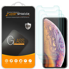3X Supershieldz Tempered Glass Screen Protector Saver for Apple iPhone X / XS