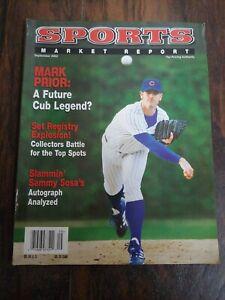 SMR Sports Market Report PSA Guide Magazine Mark Prior Chicago Cubs Sept. 2002