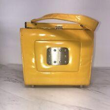 Vintage Stylecraft Miami Patent Leather Yellow Pedestal Handbag Purse