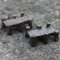 Mini Wooden Bridge Micro Landscape Resin Figurines Fairy Garden Accessories Nm