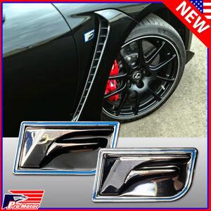 Fit Lexus 2PCS F-Sport Trunk Fender Bumper Left Right Badge Emblems F Sport Set