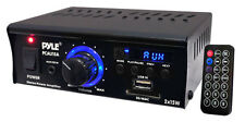 NEW Pyle PCAU15A Mini 2x15 Watt Stereo Power Amplifier with USB/SD Readers