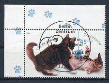 Bund Mi-Nr 2402  Ecke 1 (45+20) -Jugend;Katzen- ESST Berlin 2004