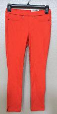 (NWT) Hue Women's  Red Original Denim Capri Leggings W/Slit Size X-Small