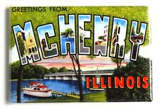 Greetings from McHenry Illinois Fridge Magnet travel souvenir