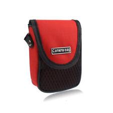 Universal Digitalkamera Tasche mit Gürtelschlaufe und Tragegurt in rot