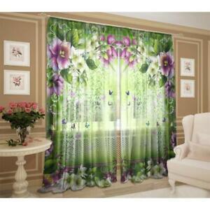 Gardinen Chiffon Transparent Vorhänge 147 cm x 267 cm Vorhang Тюль 100 % PET