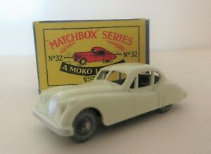 Matchbox Lesney 1-75 Series Regular Wheels Jaguar XK140 Sports Car  - Matchbox
