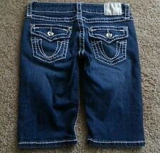 """L A IDOL Jeans Women's JEWELED Flap Pocket BERMUDA SHORTS Stretch Low sz 5 28"""" W"""
