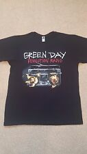 Green Day Maglietta Rivoluzione RADIO ROCK UK 2017 Leeds/Glasgow Medium e Large